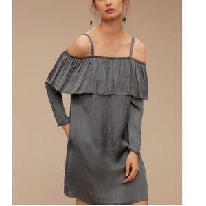 Aritzia Wilfred Brosset satin dress grey medium